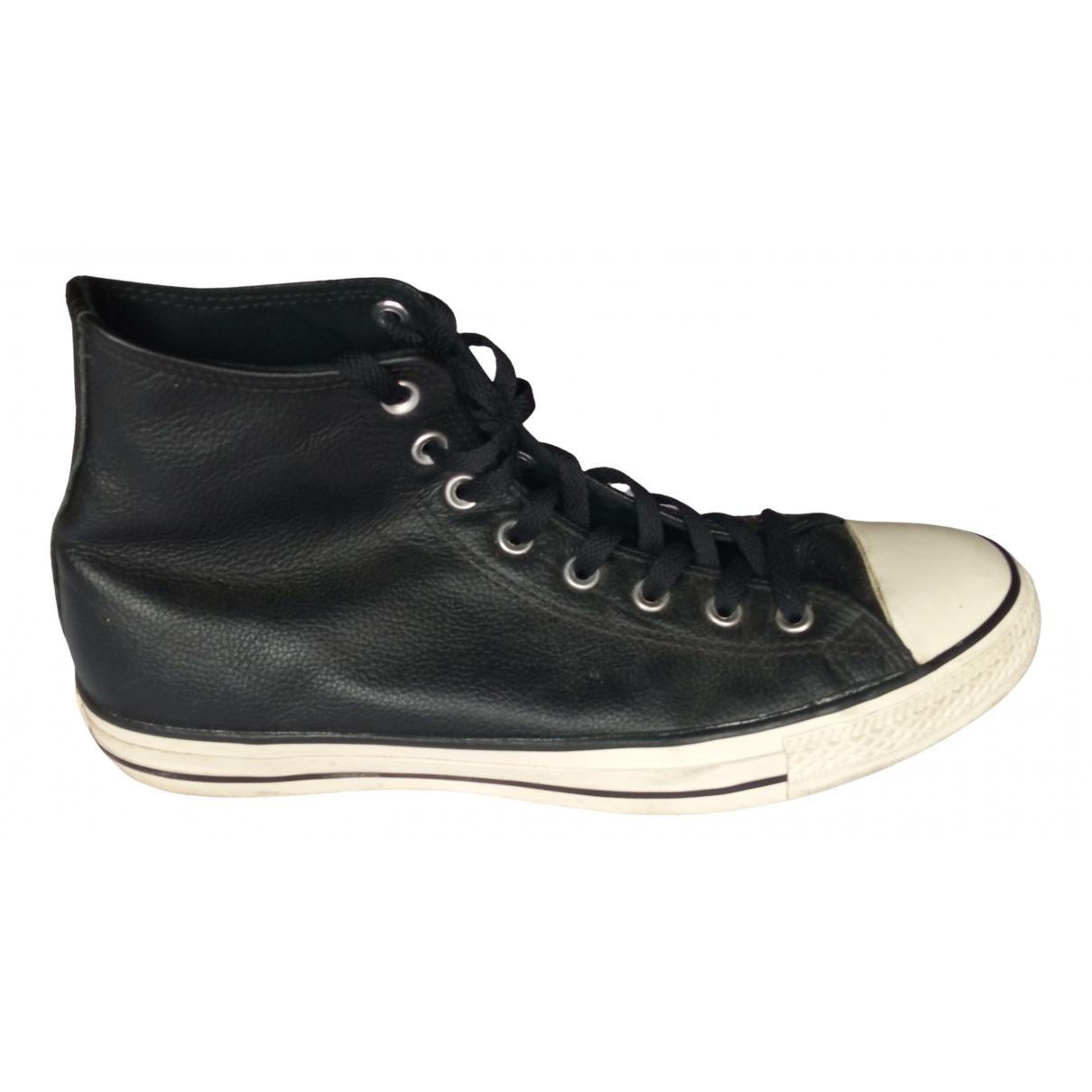 Converse - Baskets   pour homme en cuir - noir