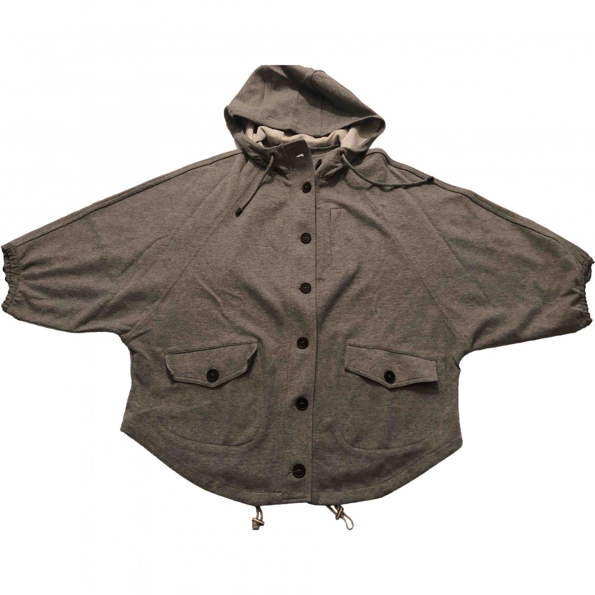 Brunello Cucinelli \N Pullover in  Grau Leinen