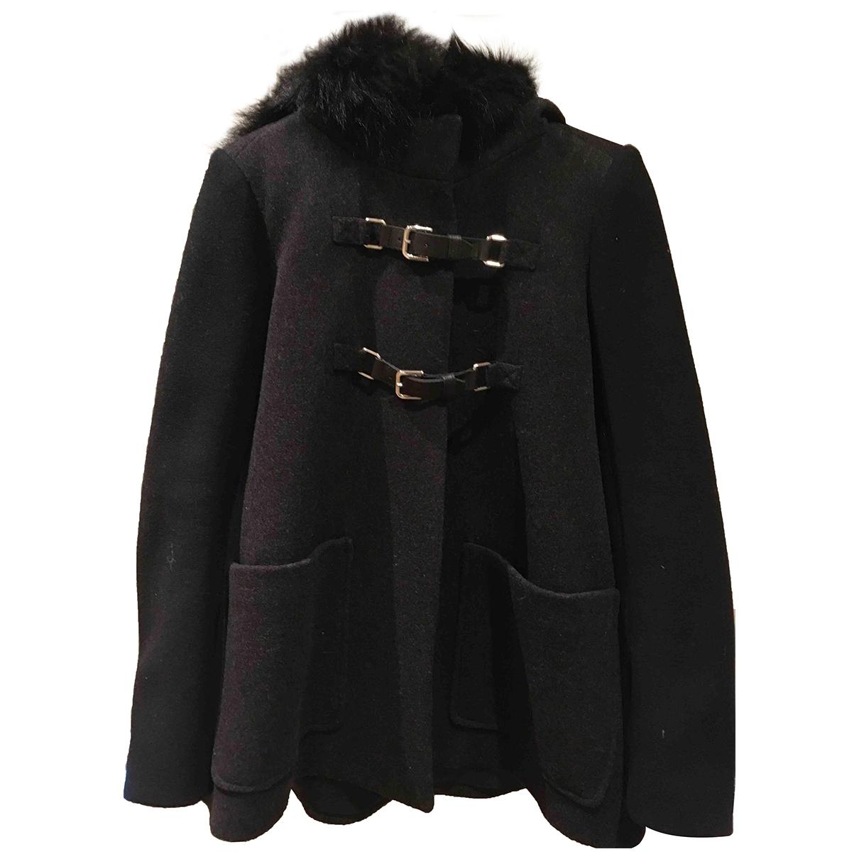 Maje - Manteau   pour femme en laine - anthracite