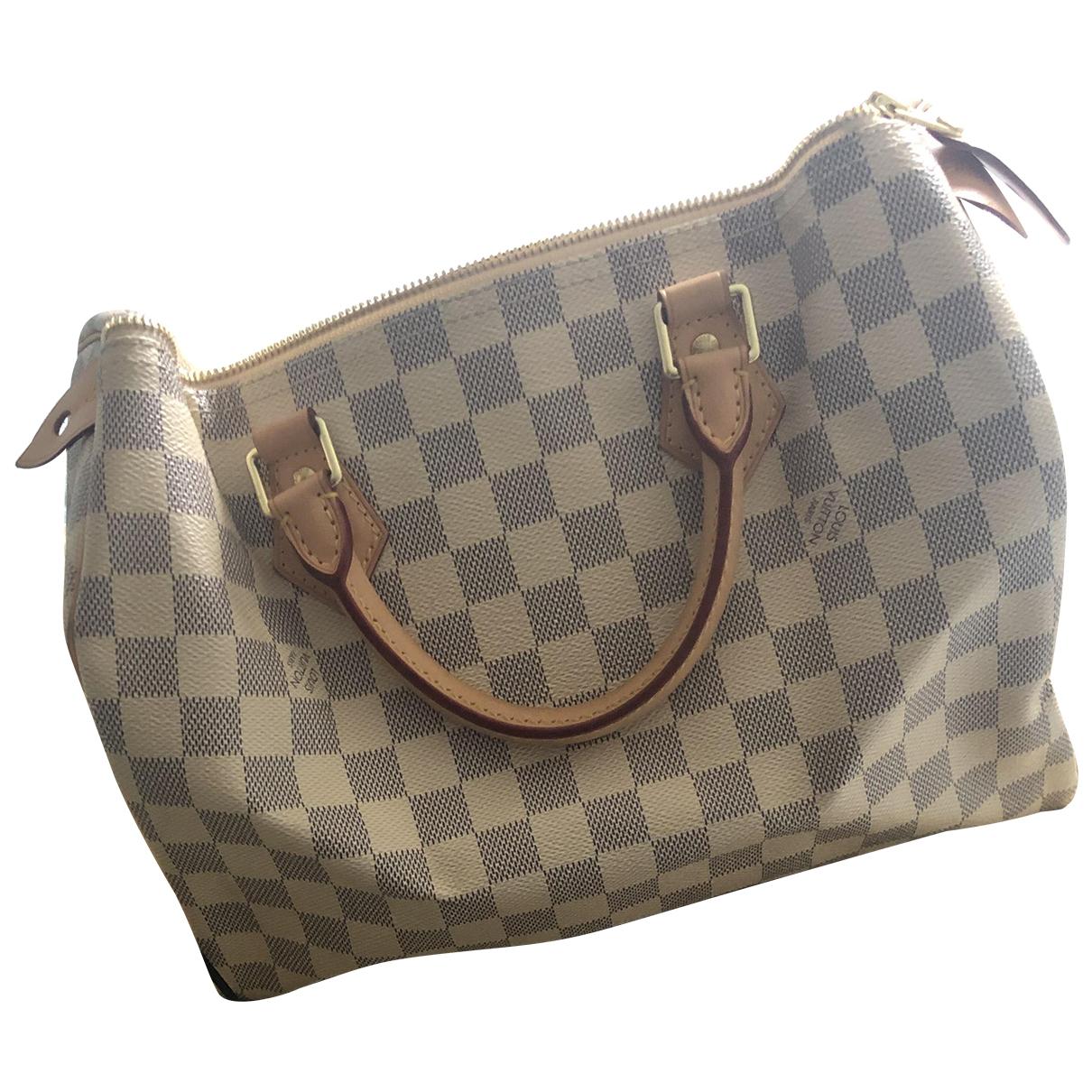 Louis Vuitton Speedy White Cloth handbag for Women N