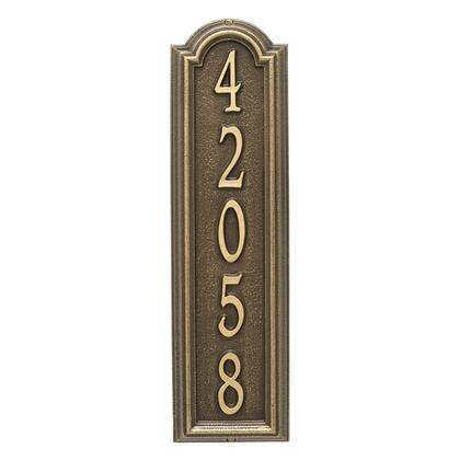 1286AB Personalized Manchester Vertical Wall Plaque in Antique Brass