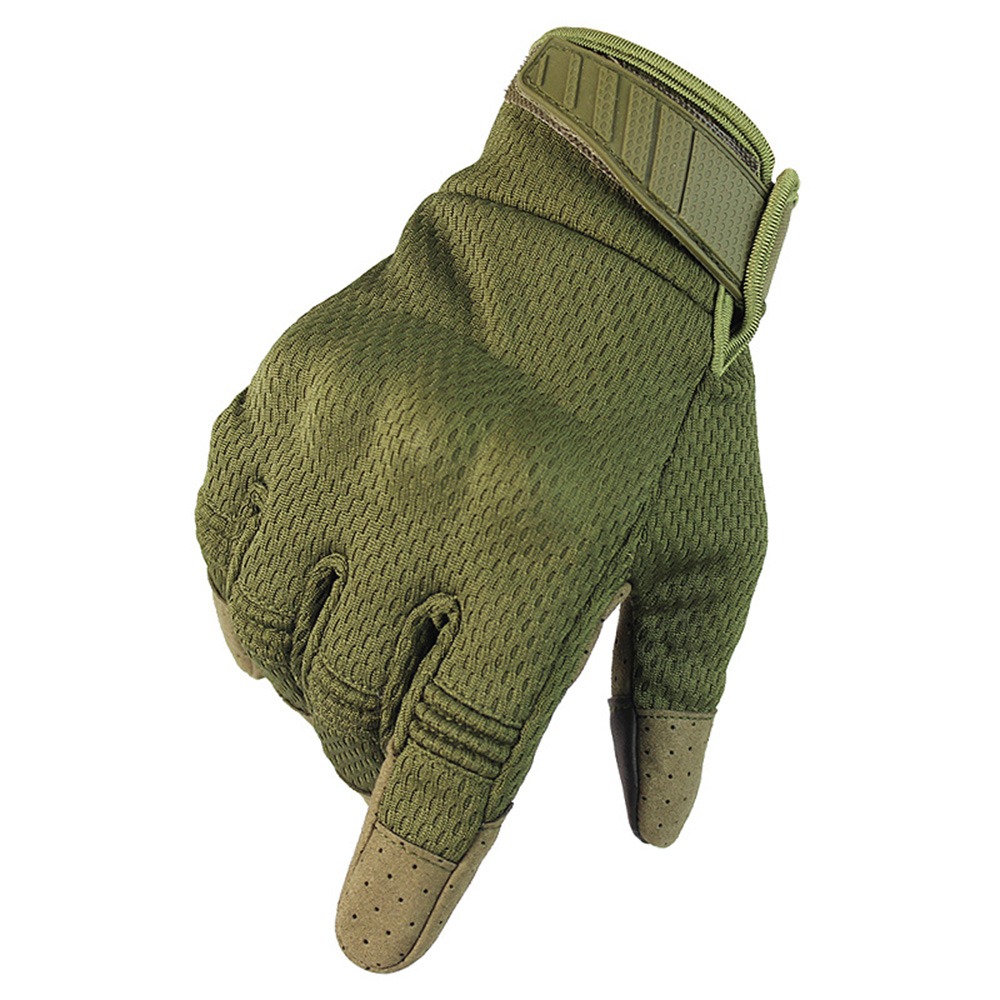 Outdoor Touch Screen Tactical Gloves Motorcycle Racing Riding Anti-slip Breathable Climbing Nylon Material Shield Fall-Proof All-Finger Gloves Protect