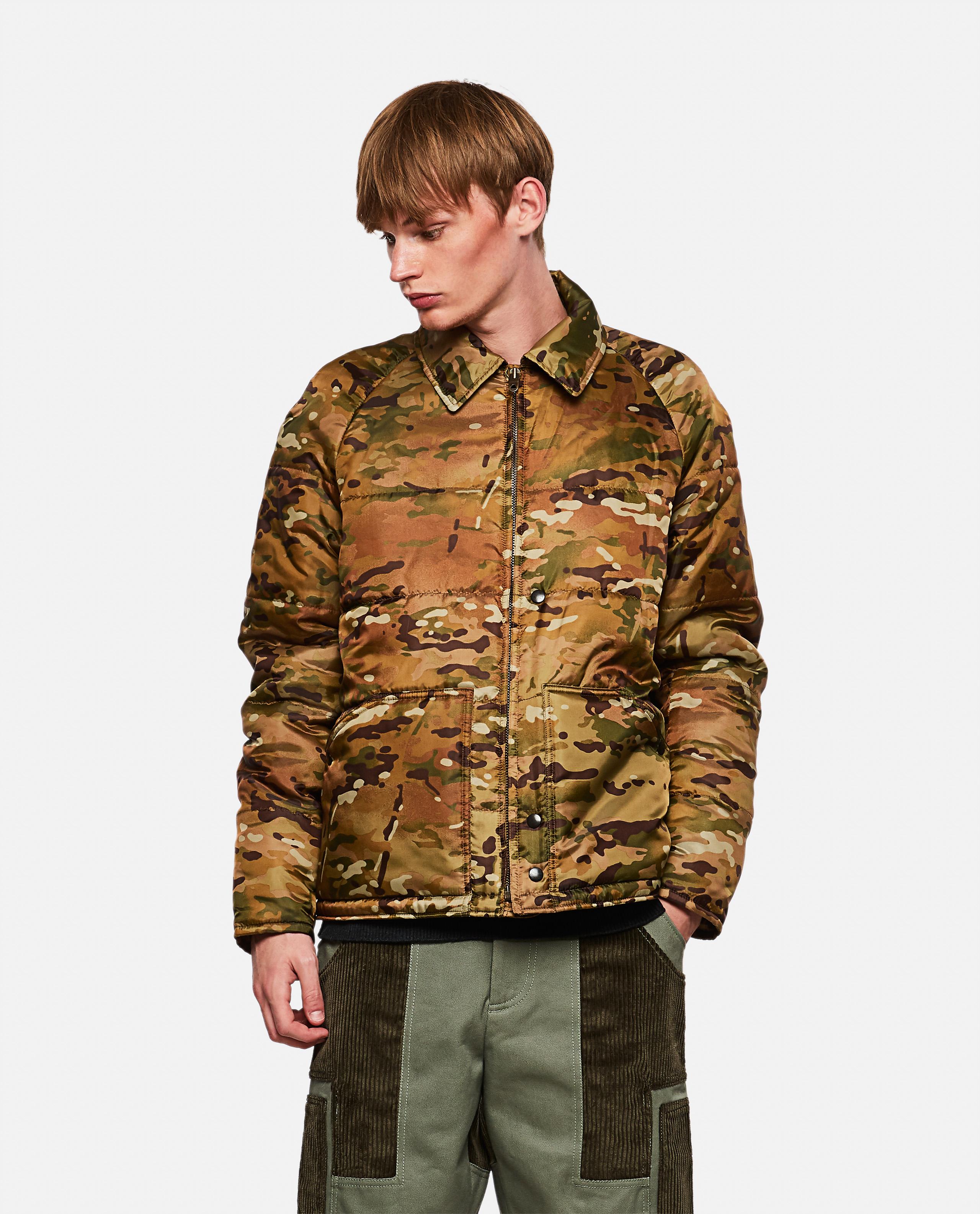 Padded military camouflage jacket