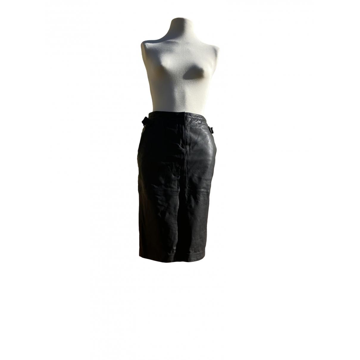 Antik Batik \N Kleid in  Schwarz Leder