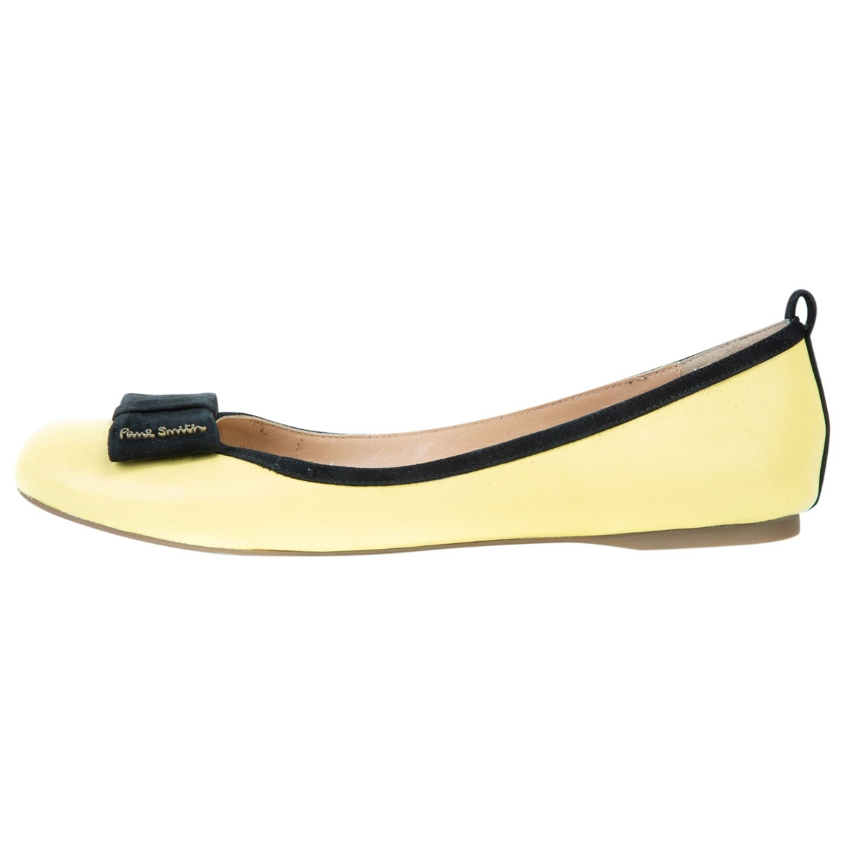 Paul Smith \N Yellow Leather Ballet flats for Women 39 EU