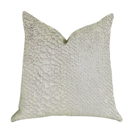 Zinc Collection PBRA1408-2626-DP Double sided  26 x 26 Plutus Mystical Iceberg Throw Pillow in White and Silver