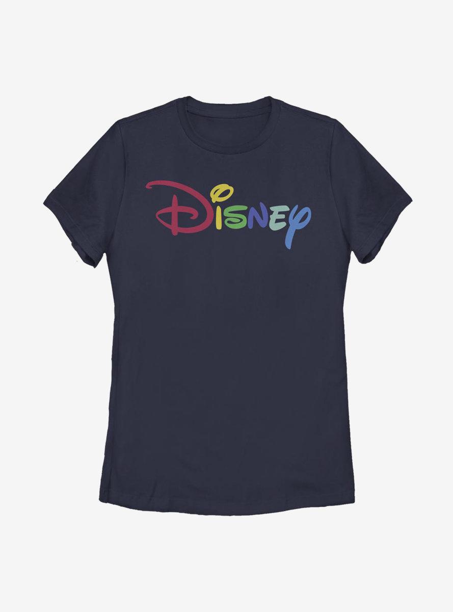 Disney Classic Rainbow Script Womens T-Shirt