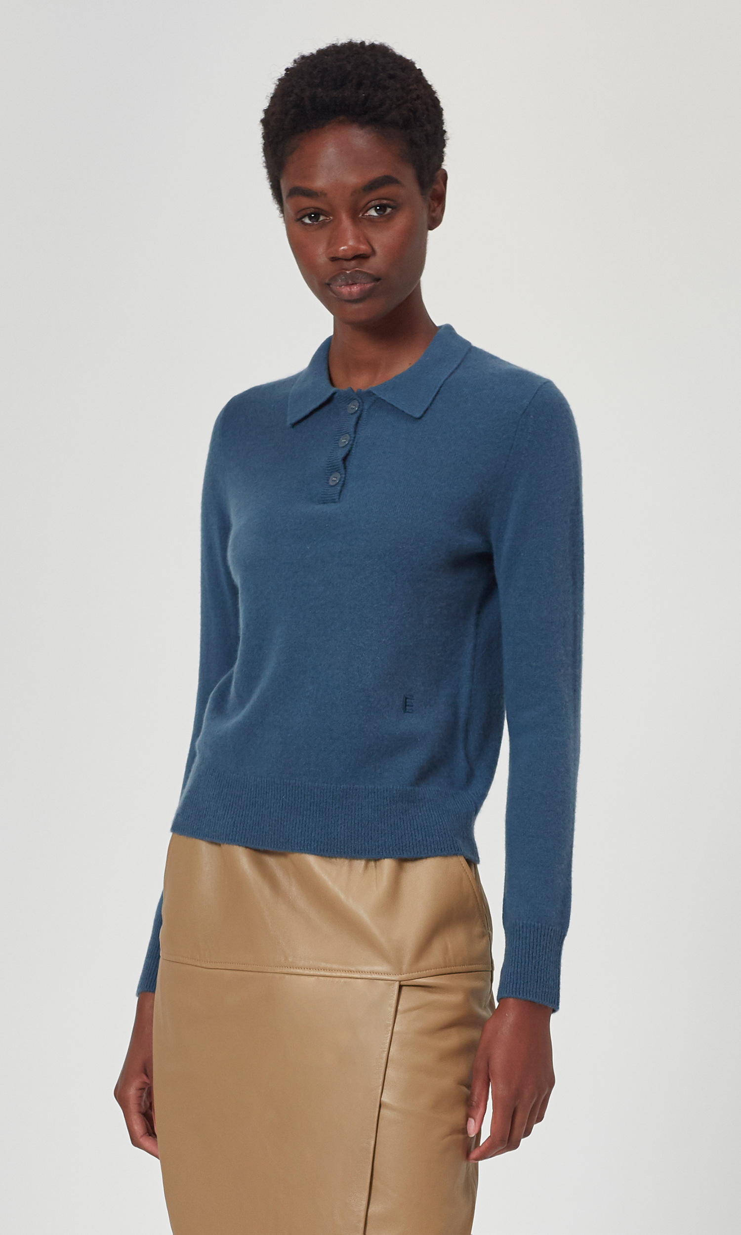 Madalyn Cashmere Polo Sweater by Equipment