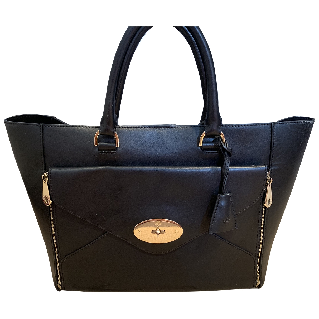 Mulberry Willow Black Leather handbag for Women \N
