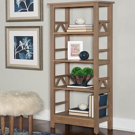 Titian Bookcase, One Size , Gray