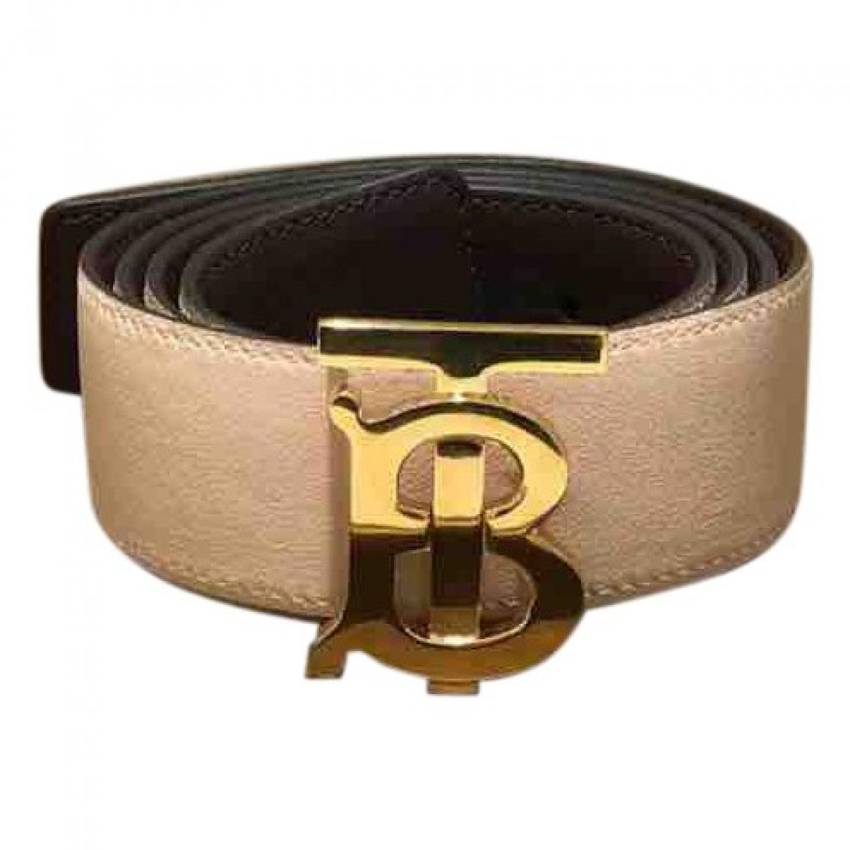 Burberry \N Burgundy Leather bracelet for Women \N