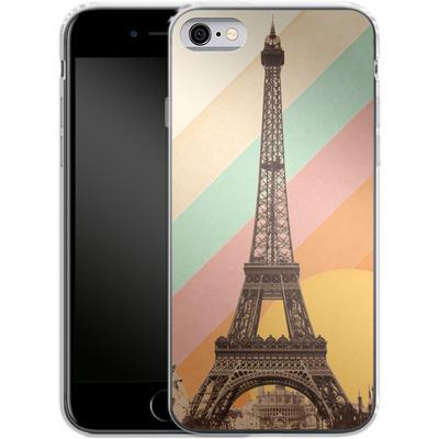 Apple iPhone 6 Silikon Handyhuelle - Eiffel Tower Rainbow von Florent Bodart