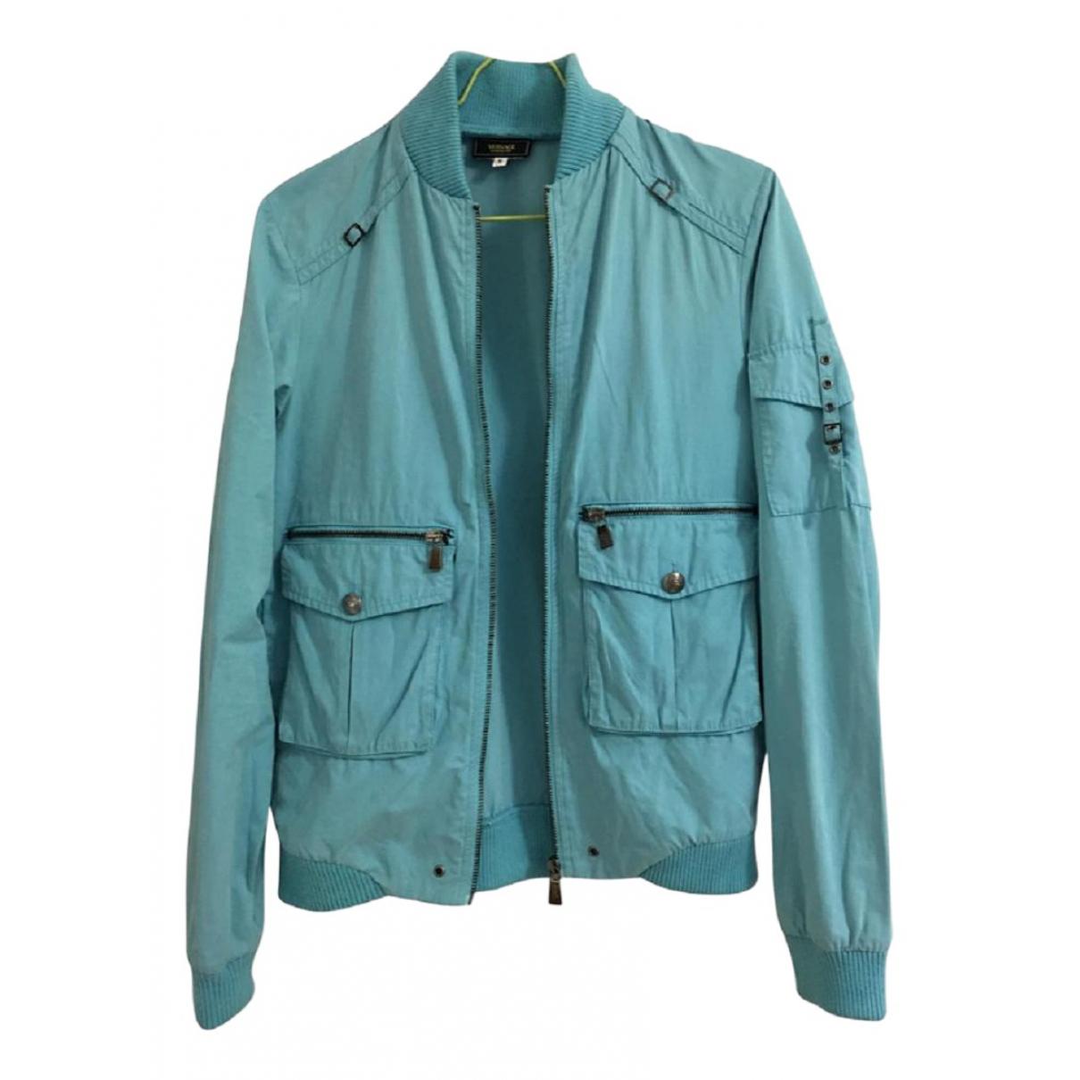 Versace Jean - Veste   pour femme en coton - turquoise