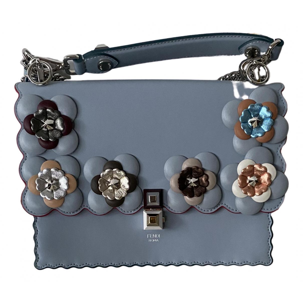 Fendi Kan I Handtasche in  Blau Leder