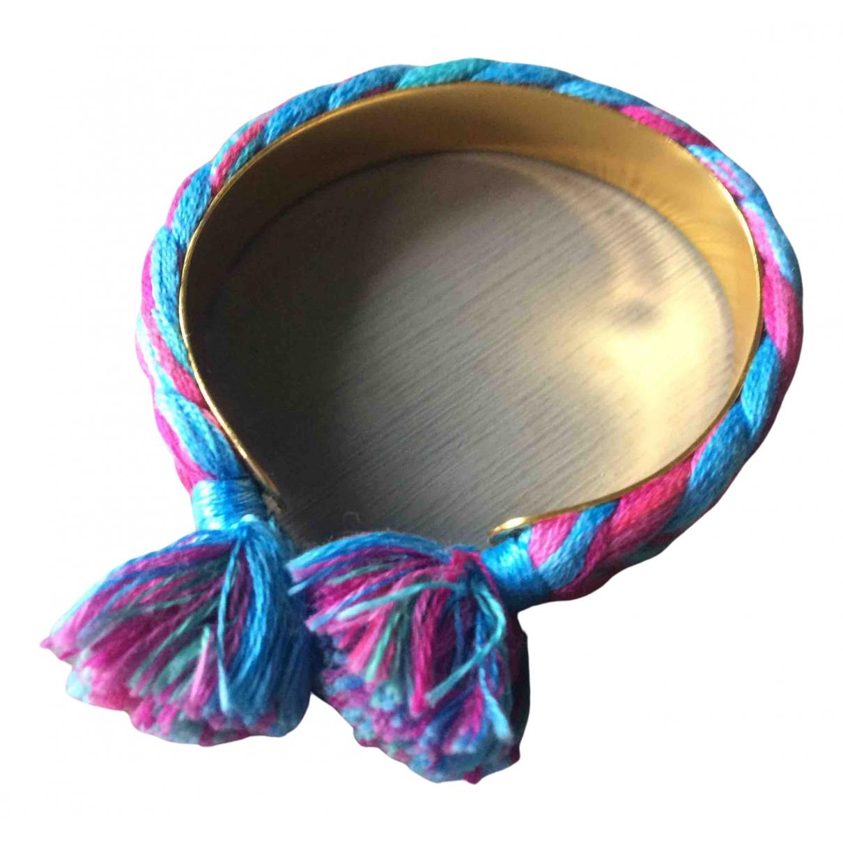 Aurelie Bidermann - Bracelet   pour femme en plaque or - bleu