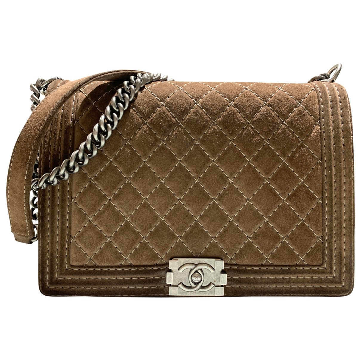 Chanel Boy Brown Suede handbag for Women \N