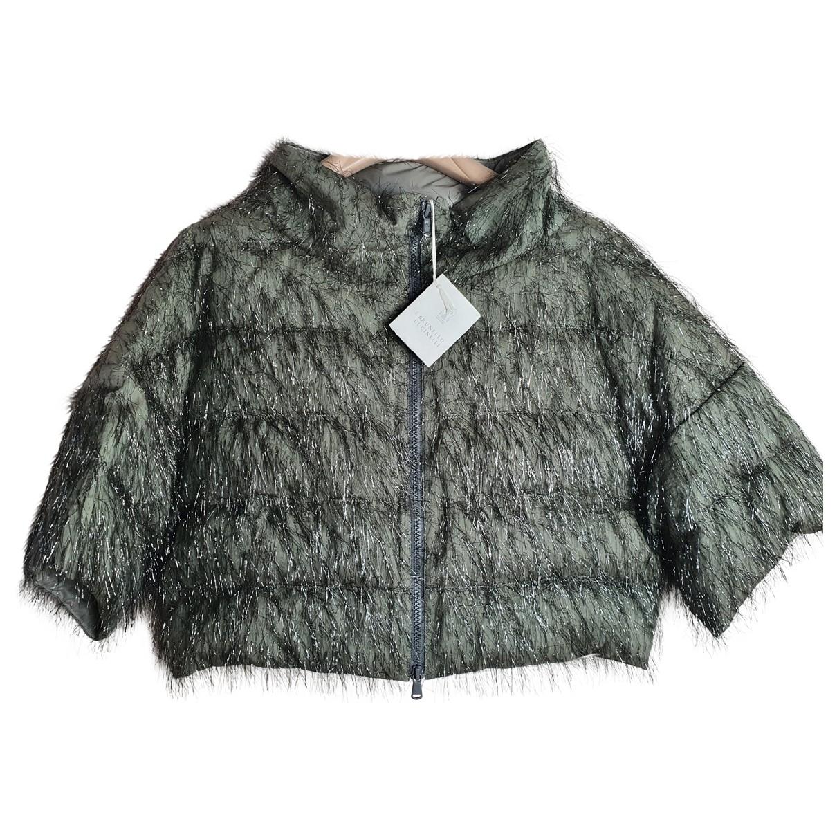 Brunello Cucinelli \N Green Silk jacket for Women 42 IT