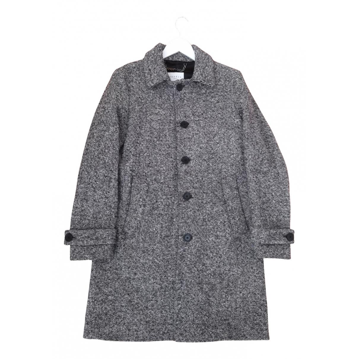 Sandro - Manteau   pour homme en toile - gris