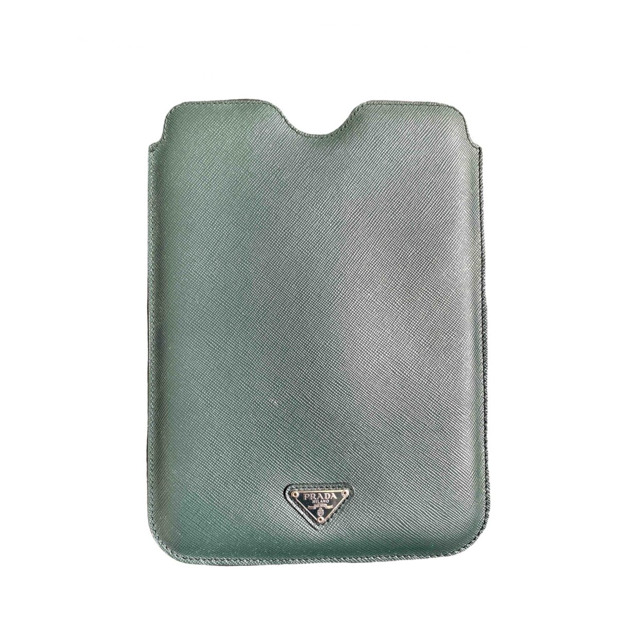 Prada \N Accessoires in  Gruen Leder