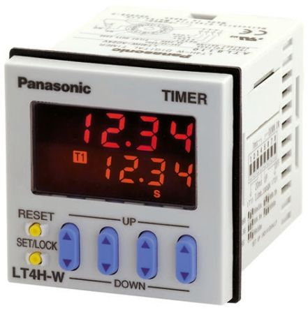Panasonic Multi Function Timer Relay - 0 → 9999 h, 0 → 9999 min, 0 → 9999 s, Flush Mount