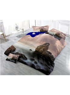 Rock and Sea Wear-resistant Breathable High Quality 60s Cotton 4-Piece 3D Bedding Sets