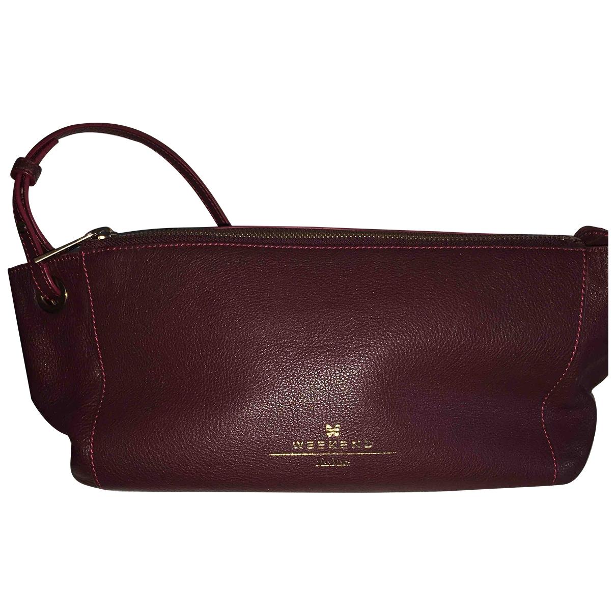 Max Mara \N Burgundy Leather handbag for Women \N