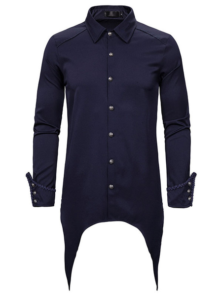 Milanoo Camisa gotica Steampunk Camisa medieval renacentista vintage victoriana para hombres
