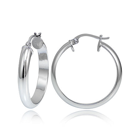 Sterling Silver Round 3MM Hoop Earrings, One Size , No Color Family