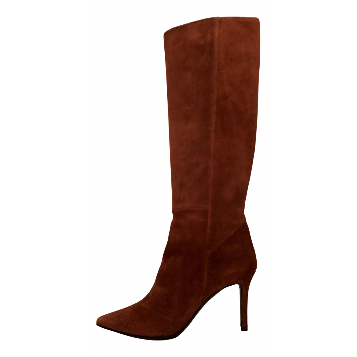 Barbara Bui N Camel Suede Ankle boots for Women 36 EU