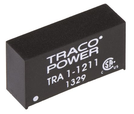 TRACOPOWER TRA 1 1W Isolated DC-DC Converter Through Hole, Voltage in 10.8 → 13.2 V dc, Voltage out 5V dc
