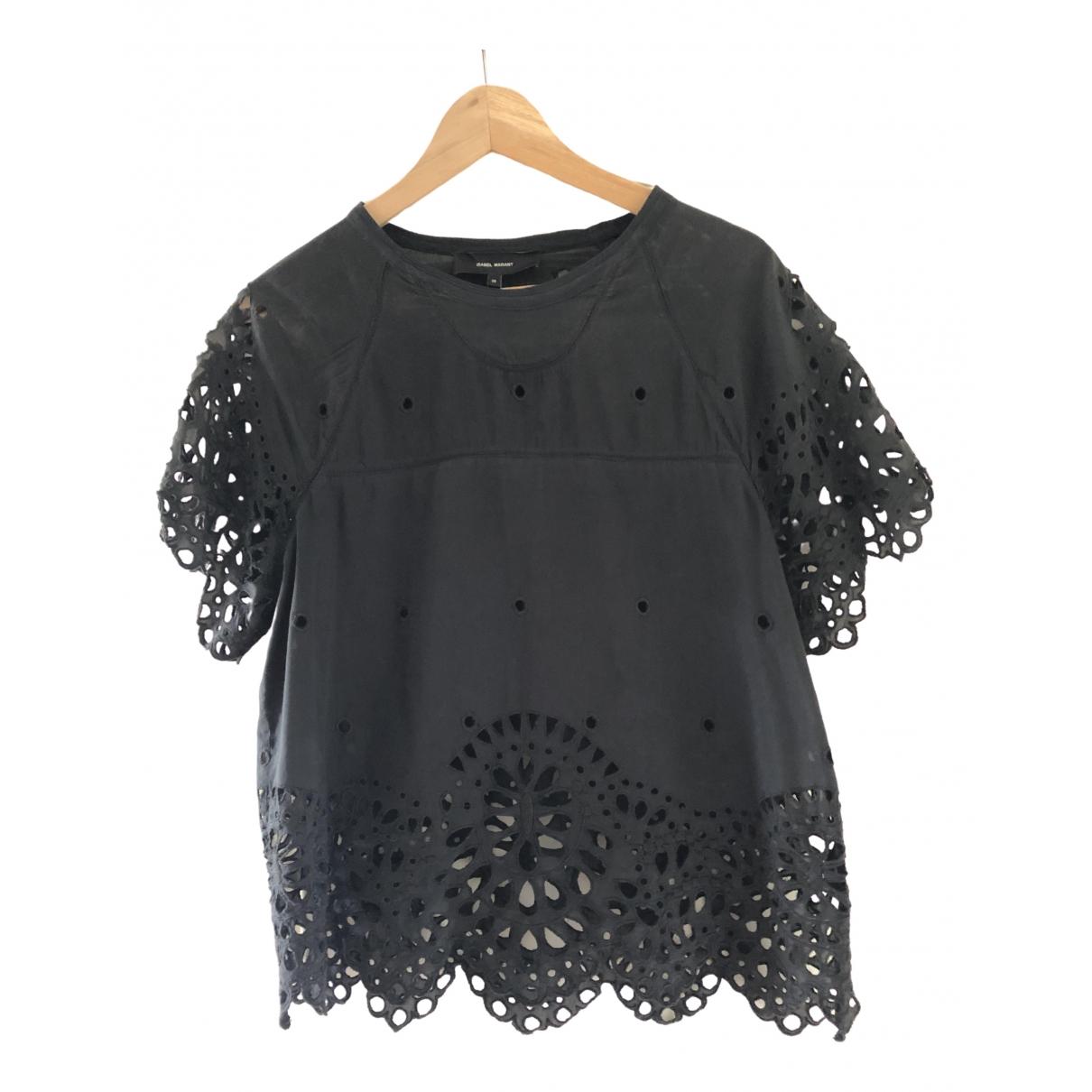 Isabel Marant \N Black Cotton  top for Women 38 FR