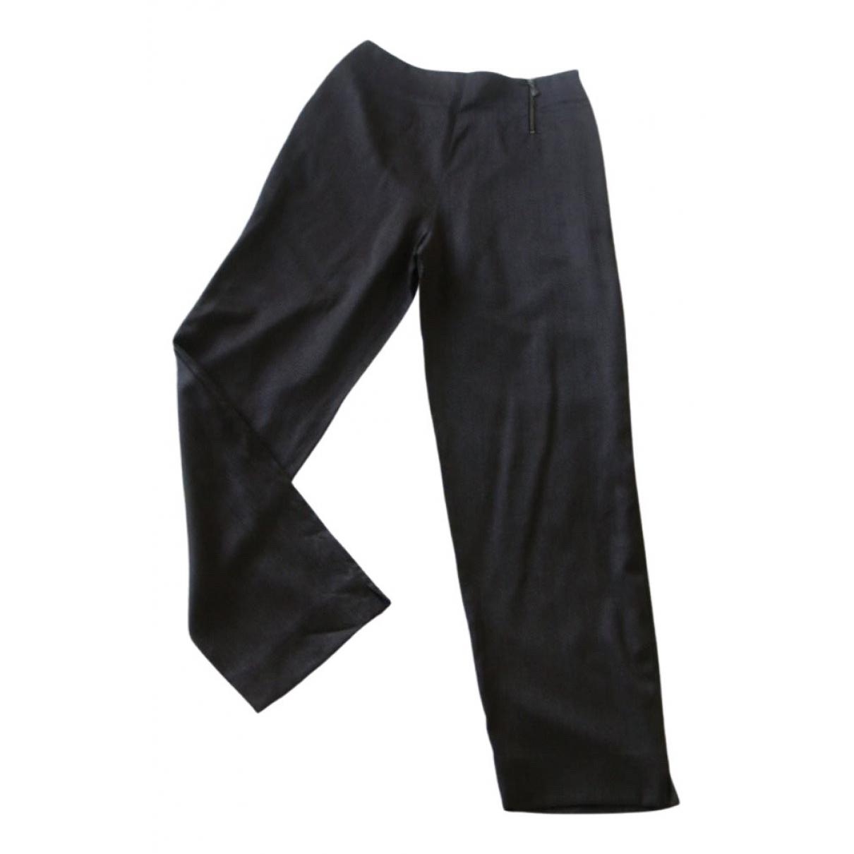 Claude Montana \N Brown Wool Trousers for Women 4 US