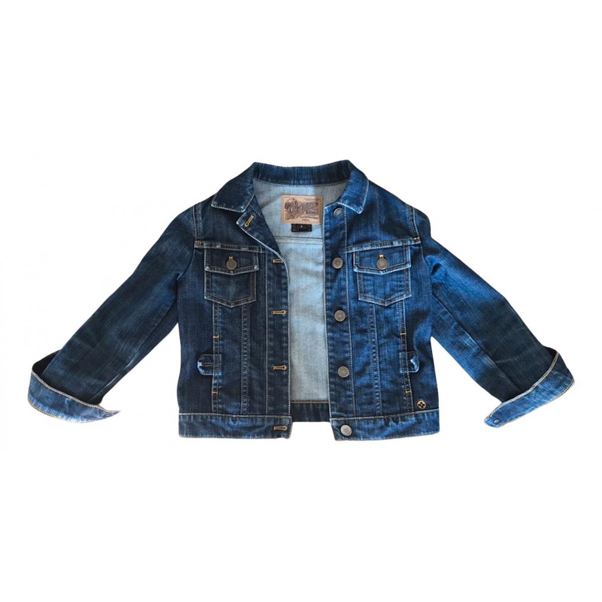 Louis Vuitton \N Jacke, Maentel in  Blau Denim - Jeans