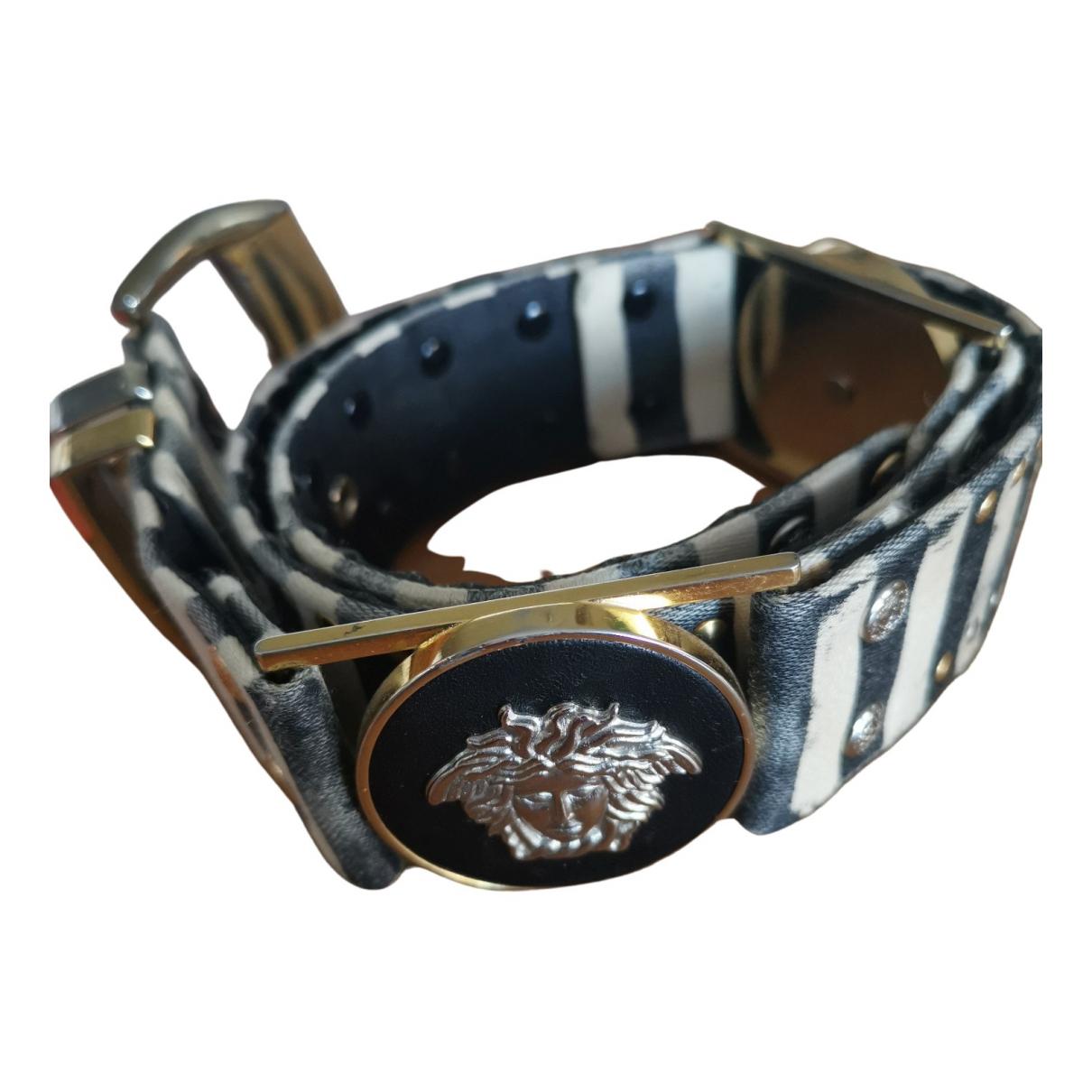 Gianni Versace \N Guertel in  Metallic Leder