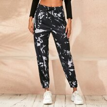 Pantalones Cordon Tie-Dye Casual