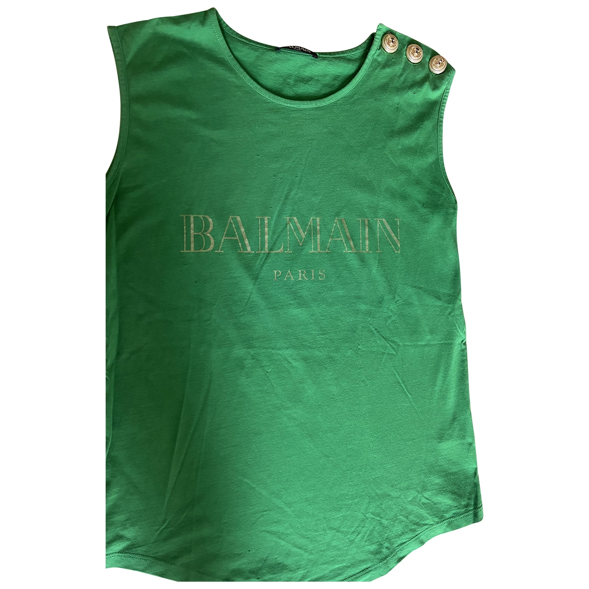 Balmain \N Top in  Gruen Baumwolle