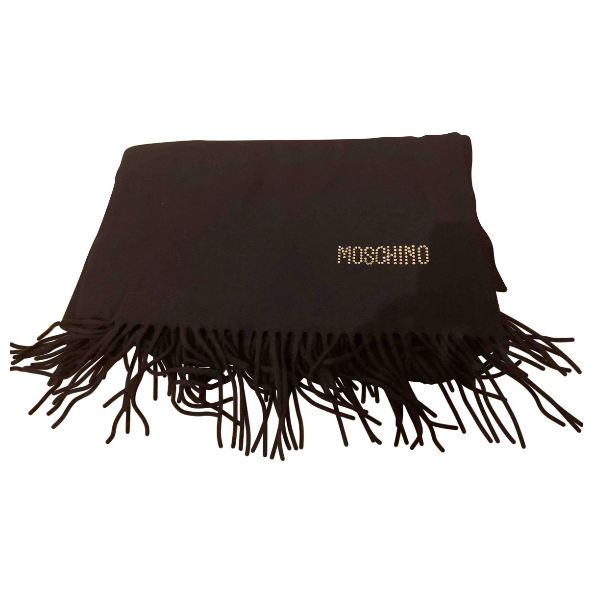 Moschino N Blue Wool scarf for Women N