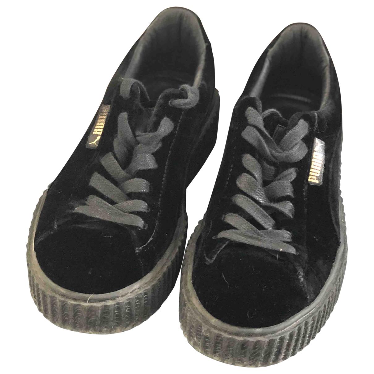 Fenty X Puma - Baskets   pour femme en suede - noir