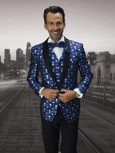 Mens Cheap Fashion big and tall Plus Size Blazer For Guys Royal
