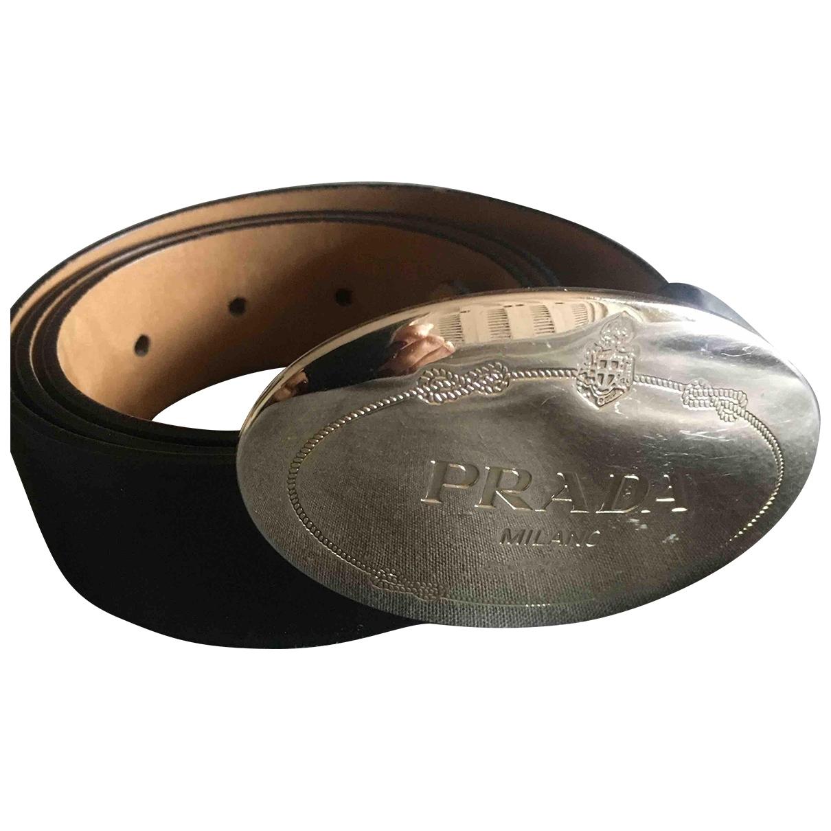 Prada \N Black Leather belt for Women XS International