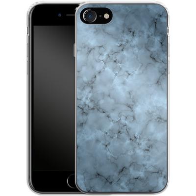 Apple iPhone 7 Silikon Handyhuelle - Blue Marble von caseable Designs