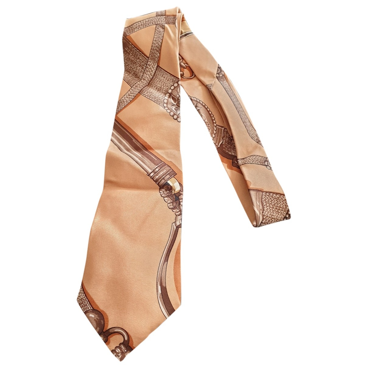 Hermes \N Krawatten in  Beige Seide