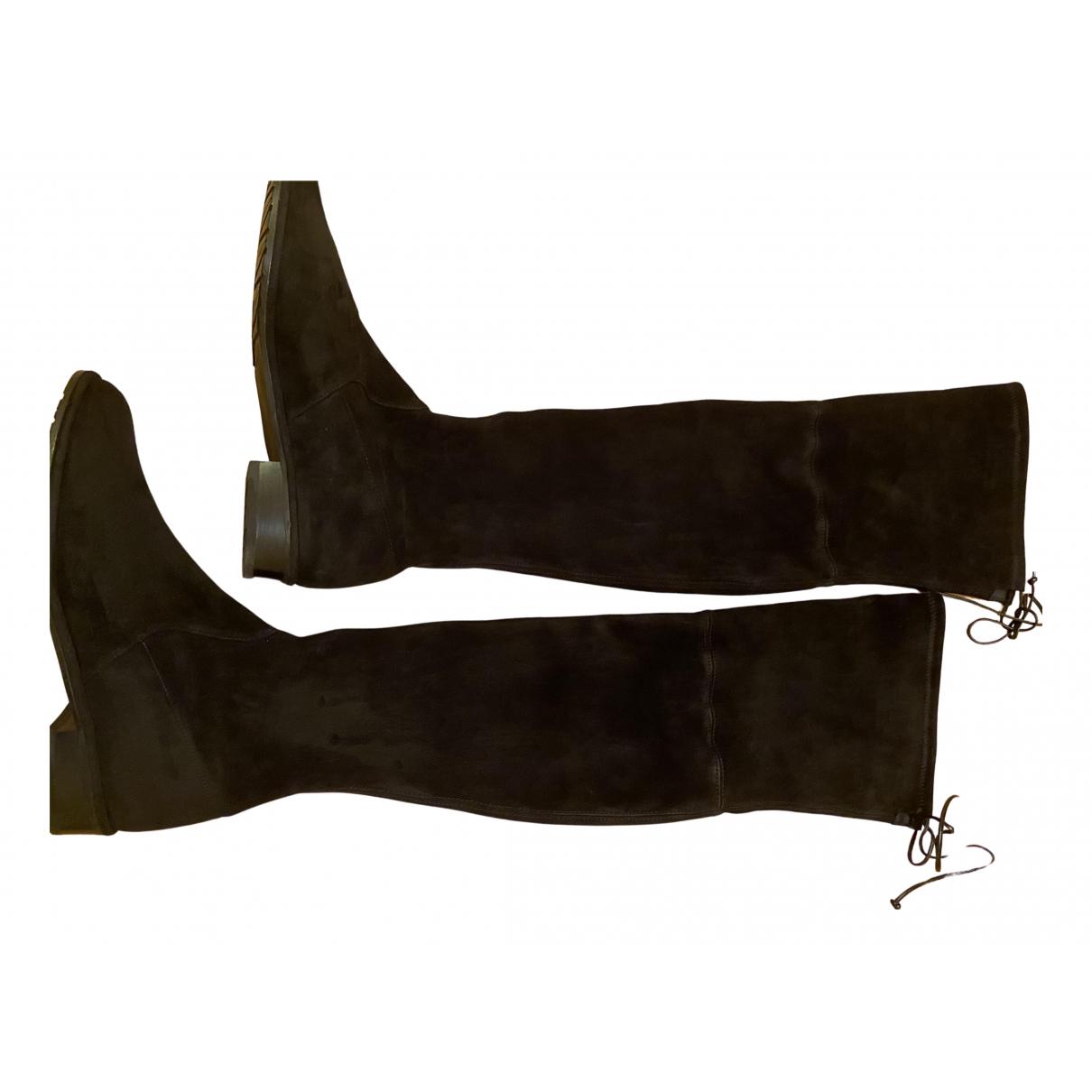 Stuart Weitzman \N Black Suede Boots for Women 39 EU