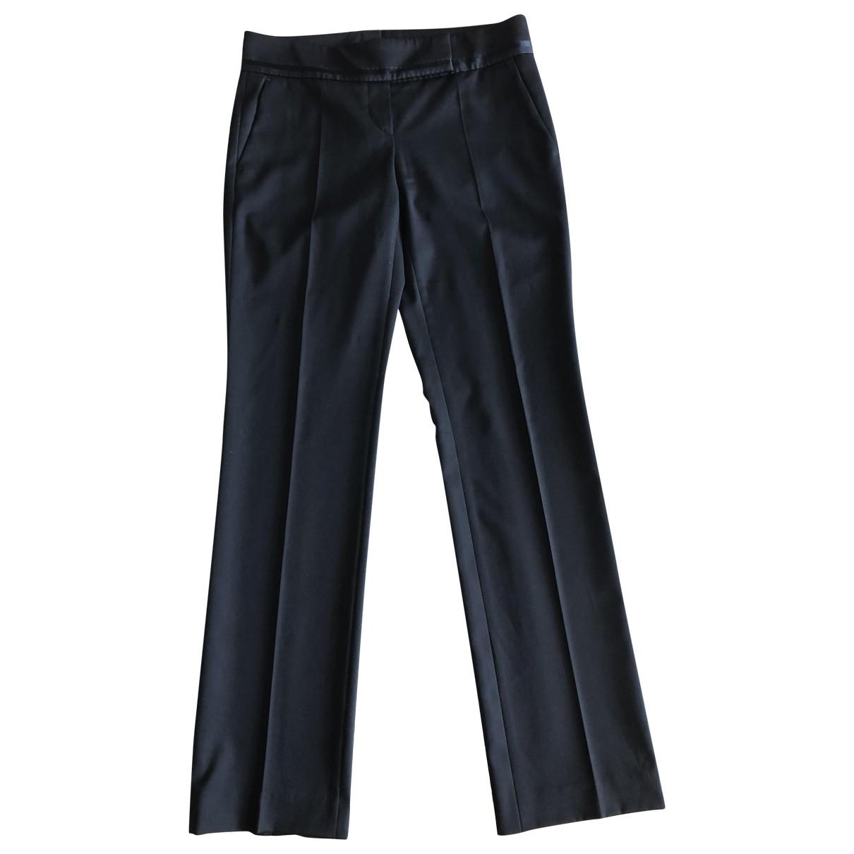 Boss N Black Wool Trousers for Women 38 FR
