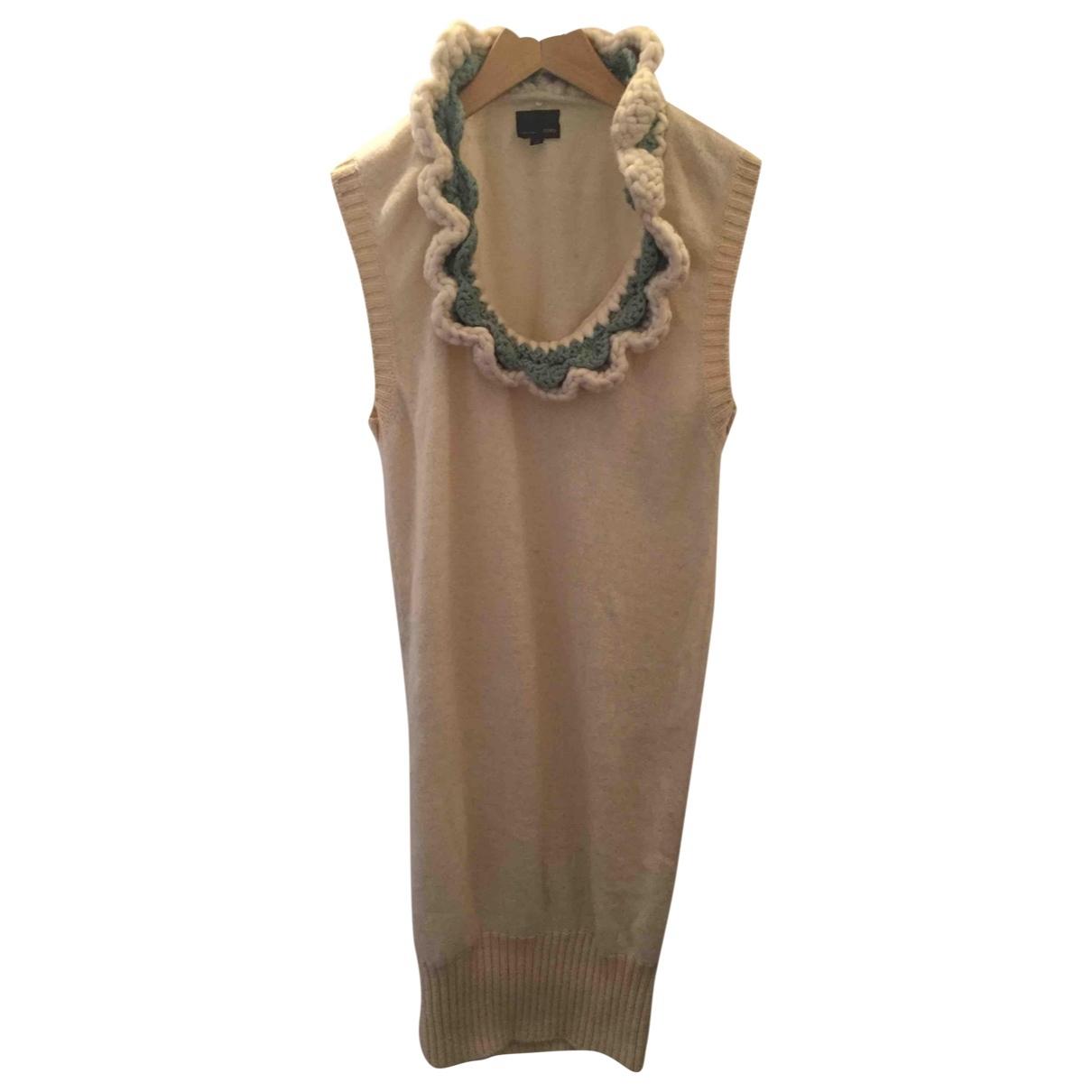 Fendi - Robe   pour femme en laine - blanc