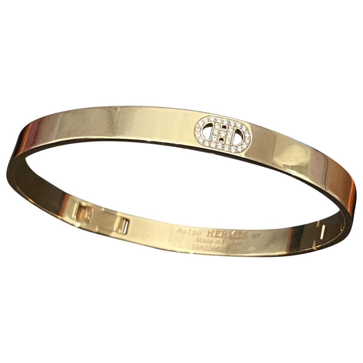 Hermes - Bracelet H dAncre pour femme en or rose