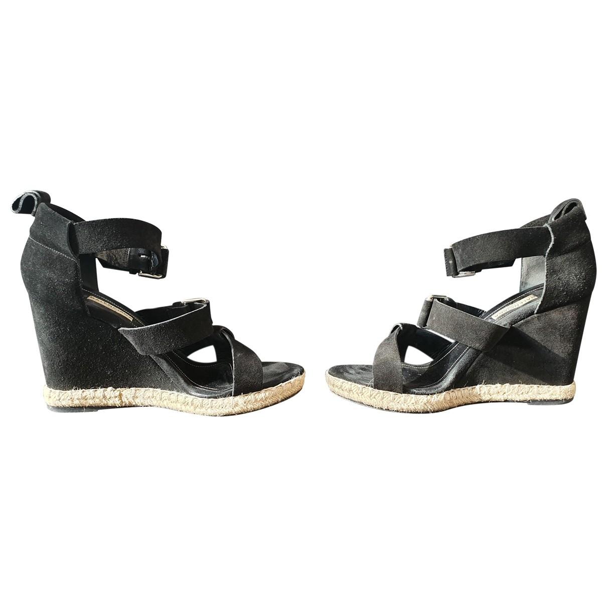Balenciaga - Espadrilles   pour femme en suede - noir