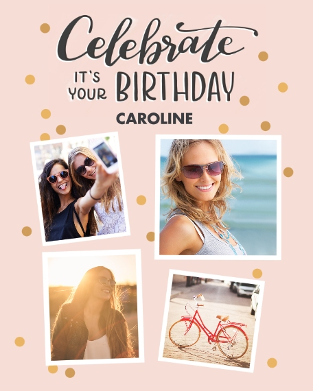 Family + Friends 16x20 Adhesive Poster, Home Décor -Confetti Celebration