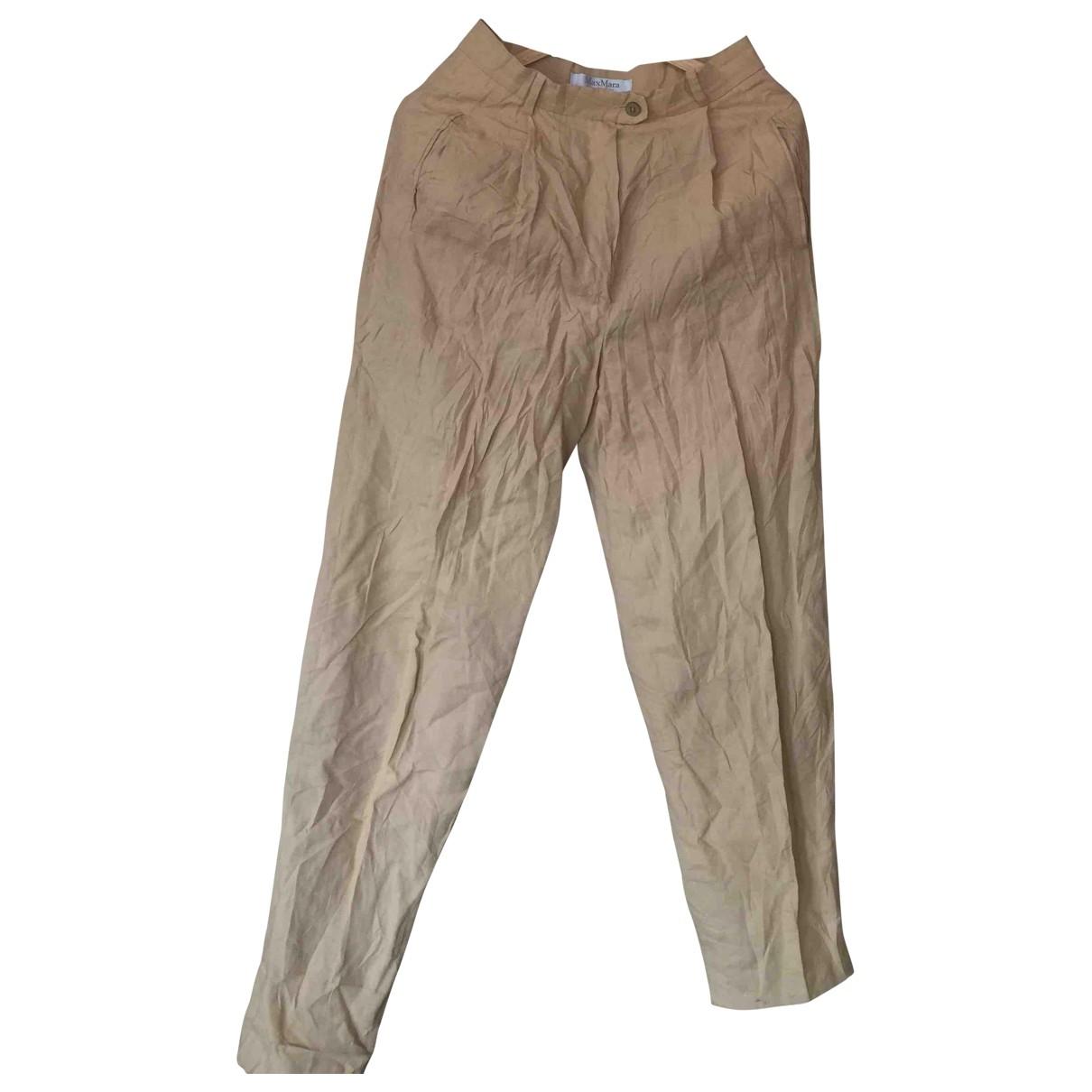 Pantalon de traje de Lino Max Mara
