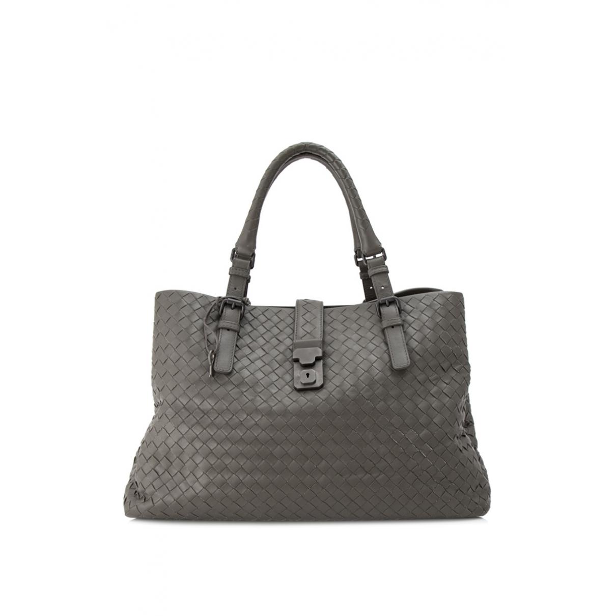 Bottega Veneta Roma Grey Leather handbag for Women \N